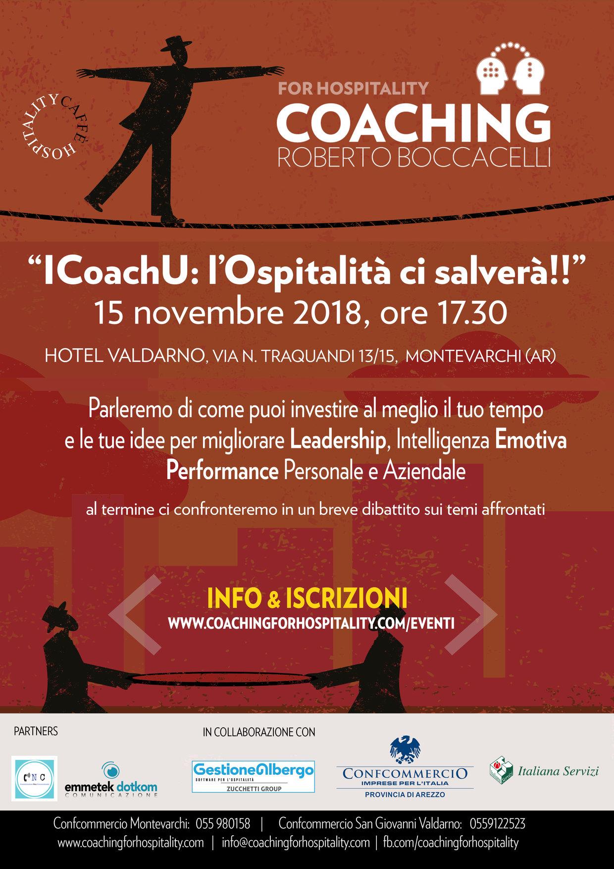 I Coach U: fa tappa a Montevarchi - Arezzo