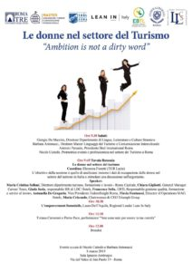 Le donne nel settore del Turismo «Ambition is not a dirty word»
